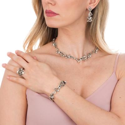 Collana Marina con anemoni e perle naturali