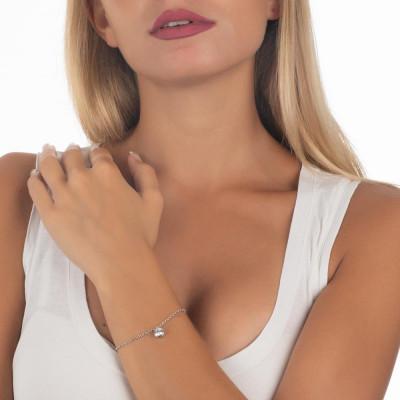 Bracciale con zircone taglio diamante pendente