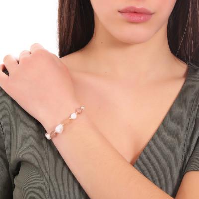 Bracciale con perle naturali e pietra di luna
