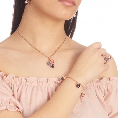 Bracciale con cristalli color ametista, zaffiro, morganite e zirconi