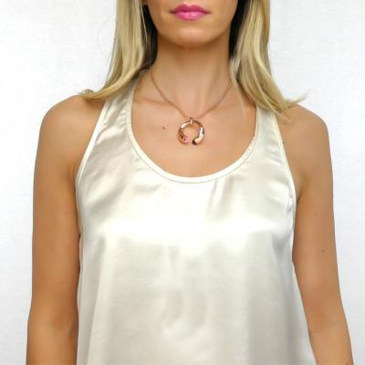 Collana con cristalli ametista e morganite