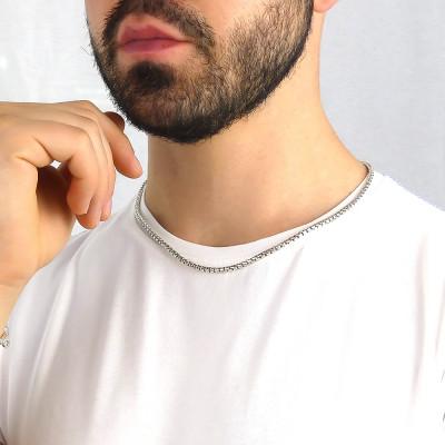 Collana maglia veneziana filo mezzo tondo medio