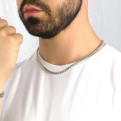 Collana maglia veneziana filo mezzo tondo grande