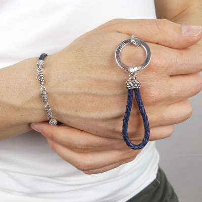 Portachiavi scooby do blu con corde