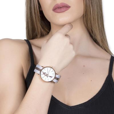 Orologio da donna con quadrante bianco e bambolina Mya in Swarovski crystal