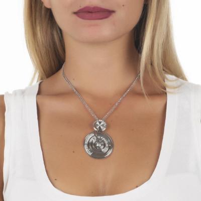 Collana con pendente di ispirazione Maya e Swarovski