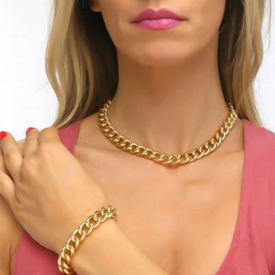 Collana grumetta piccola bronzo giallo