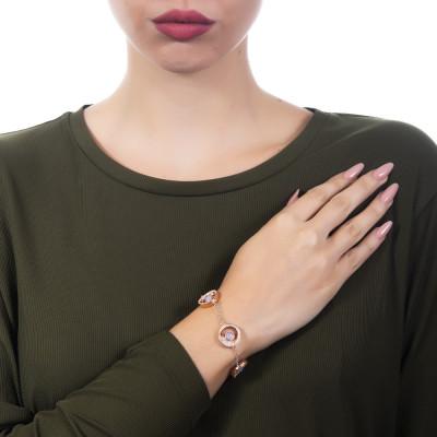 Bracciale con elementi lunari di zirconi e cristallo color lavanda