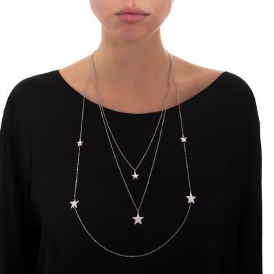 Collana tre fili con stelle
