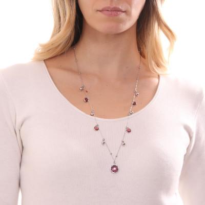 Collana con cristalli amethyst e ametista