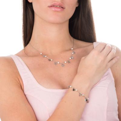 Collana con stelle e perle naturali