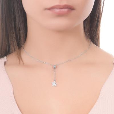 Collana con stella traforata pendente