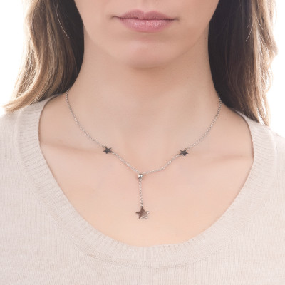 Collana con stelle laterali e pendente