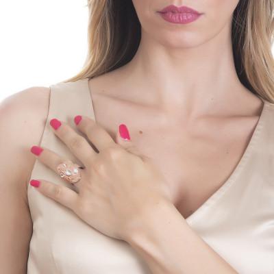 Anello navette con Swarovski crystal