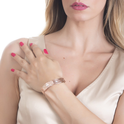 Bracciale semirgido con Swarovski crystal