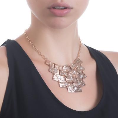 Collana con centrale semirigido e Swarovski crystal