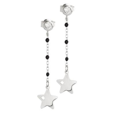 Orecchini con zircone e stella
