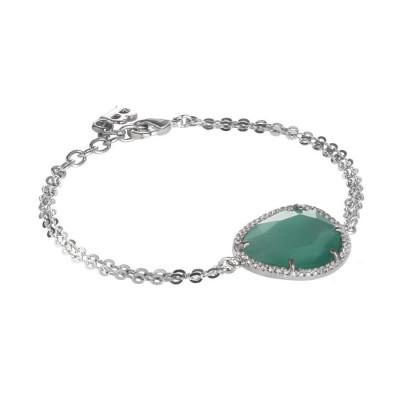 Bracciale con cristallo sfaccettato green mint