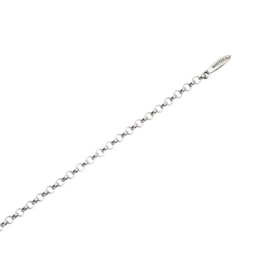 Bracciale in argento per charms scorrevoli.