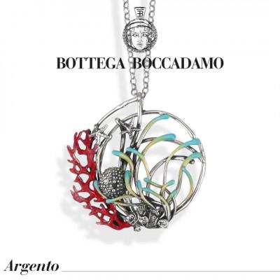 Collana con pendente decorato da anemoni smaltati
