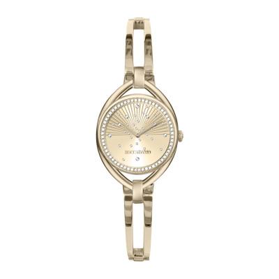 Orologio solo tempo donna gold con bracciale semirigido e Swarovski