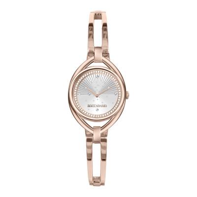 Orologio solo tempo donna rose e silver con bracciale semirigido e Swarovski