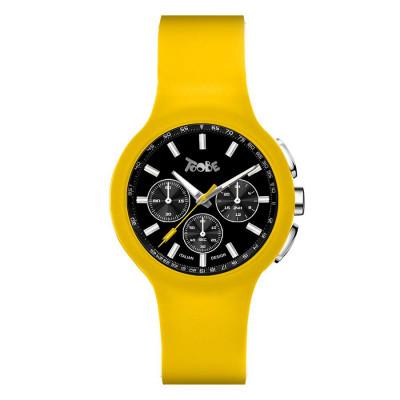 Orologio in silicone anallergico giallo e contatori neri
