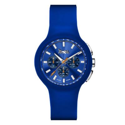 Orologio in silicone anallergico blu cobalto e contatori blu