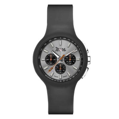 Orologio in silicone anallergico grigio e contatori neri