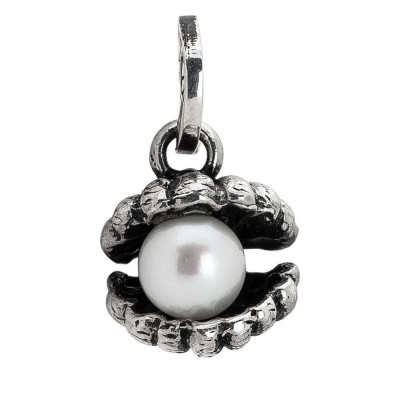 Charm con conchiglia e perla naturale