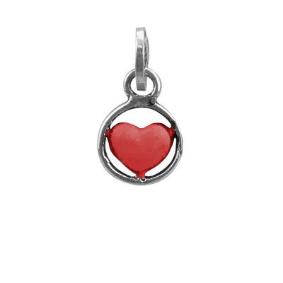 Charm cuore rosso
