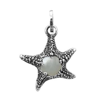 Charm stella marina con madreperla