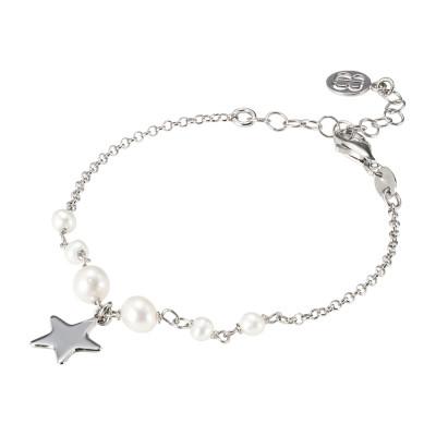 Bracciale con perle naturali e stella pendente