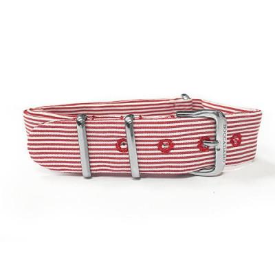 Cinturino sartoriale a righe strette rosse