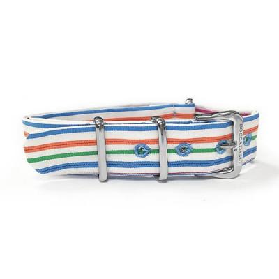 Cinturino sartoriale a righe larghe multicolor
