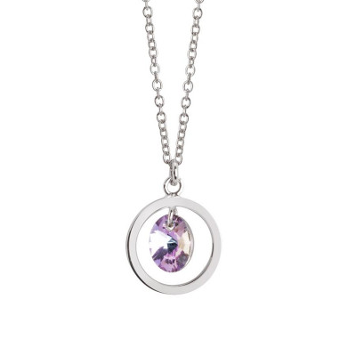Collana con cristallo Swarovski vitrail light