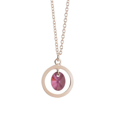 Collana con cristallo Swarovski lilac shadow