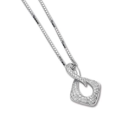 Collana con pendente dal simbolo dell'infinito e zirconi