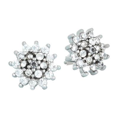 Orecchini in argento con stella polare di zirconi