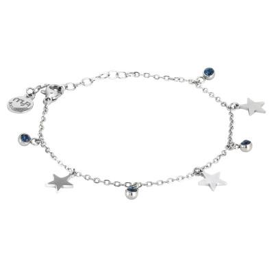 Bracciale con cristalli blu montana e stelle