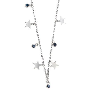 Collana con cristalli blu montana e stelle