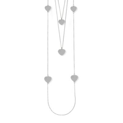 Collana tre fili con cuori