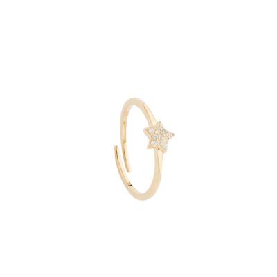 Anello con stella di zirconi bianchi