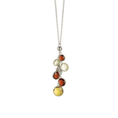 Collana con cristalli brown e light citrine
