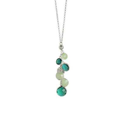 Collana con cristalli green e light green