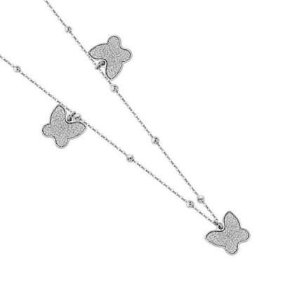 Collana con farfalle glitterate