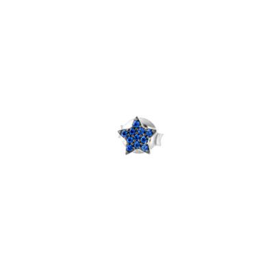 Orecchino a stella in zirconi celesti