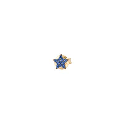 Orecchino a lobo con stella di zirconi celesti