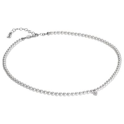 Collana in perle Swarovski e cuore centrale in zirconi