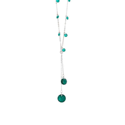 Collana con zirconi color smeraldo e Swarovski emerald